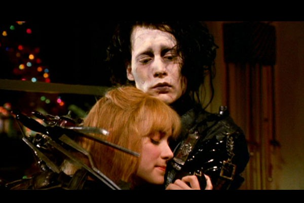 Johnny Depp and Winona Ryder, Edward Scissorhands