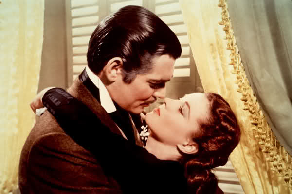 Vivien Leigh and Clark Gable gone with the wind