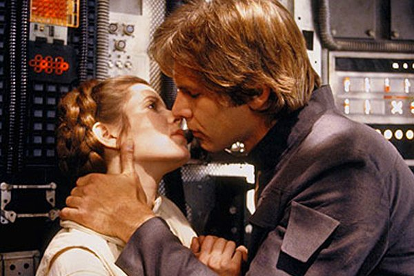 Harrison Ford and Carrie Fisher star wars