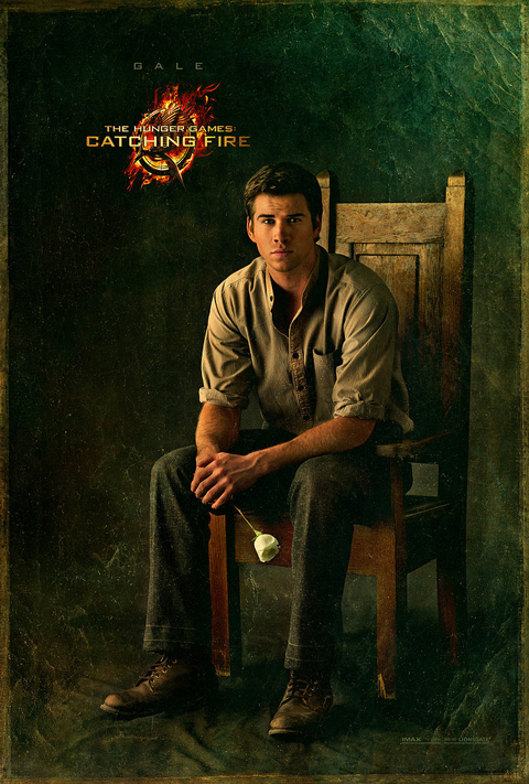 hunger games catching fire character poster gale