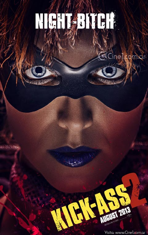 kick ass 2 character posters night bitch